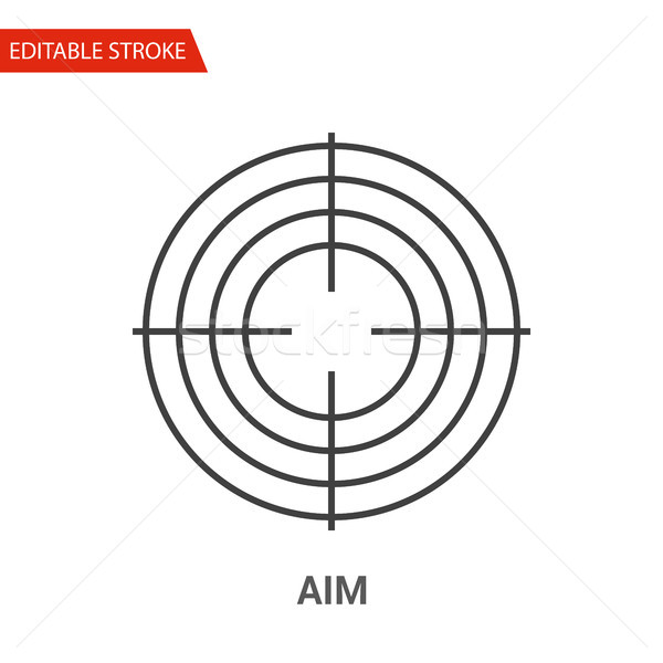 Aim Icon. Thin Line Vector Illustration Stock photo © smoki