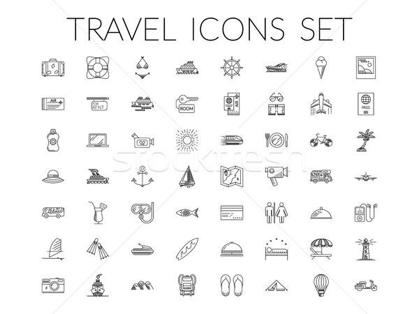 Viaggio estate vacanze vacanze oggetti Foto d'archivio © smoki