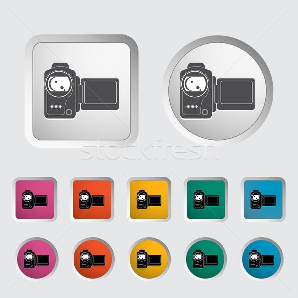 Videókamera ikon film terv háttér felirat Stock fotó © smoki