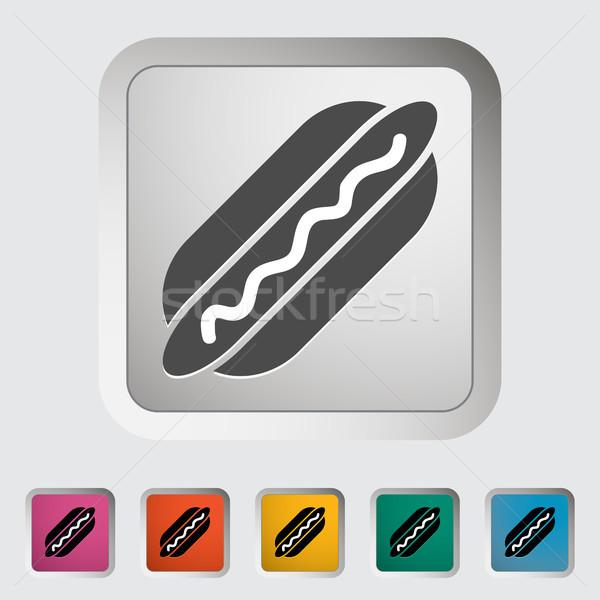 Hot dog alimentare design segno pane cena Foto d'archivio © smoki