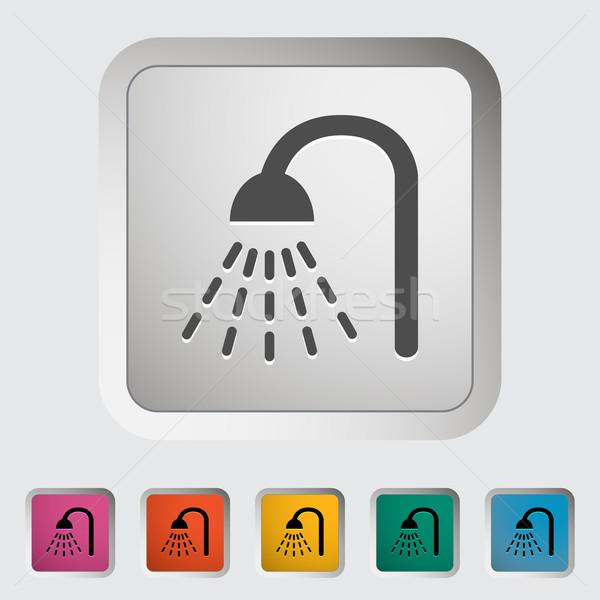Shower icon Stock photo © smoki