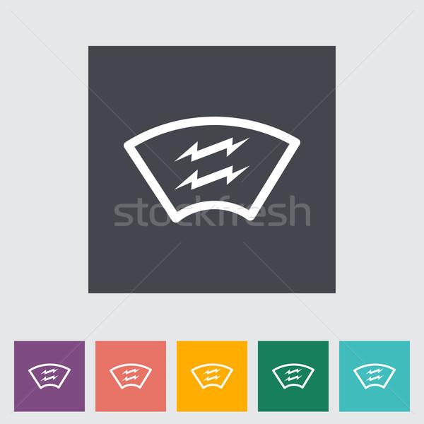 Calefacción automotor vidrio coche carretera pintura Foto stock © smoki