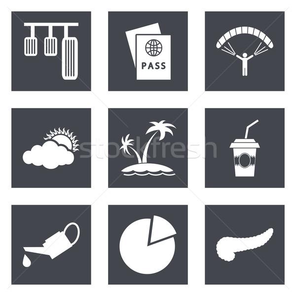 Ikona web design zestaw 22 komórkowych aplikacje Zdjęcia stock © smoki