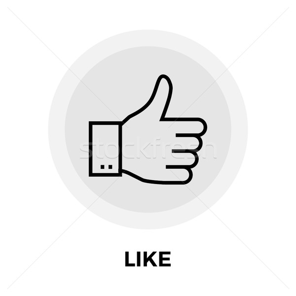 Like flat icon Stock photo © smoki