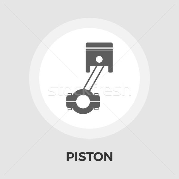 Piston ikon vektör yalıtılmış beyaz düzenlenebilir Stok fotoğraf © smoki