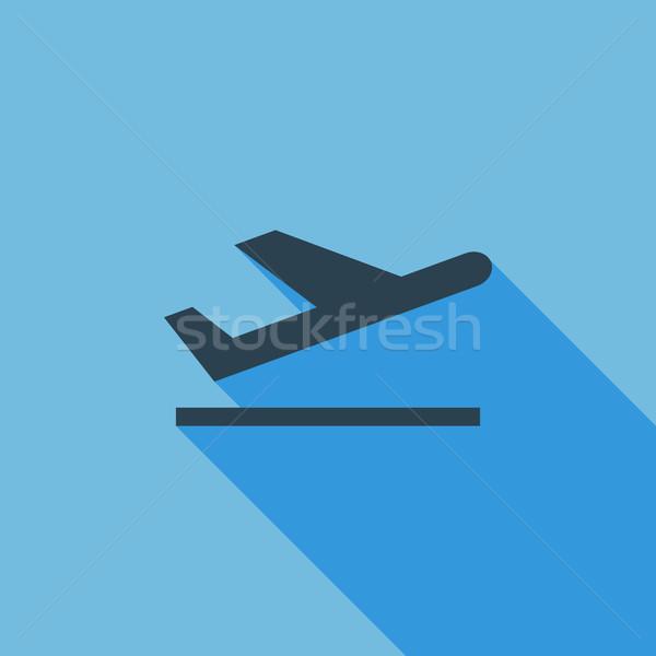 Arrivo icona vettore lungo ombra web Foto d'archivio © smoki