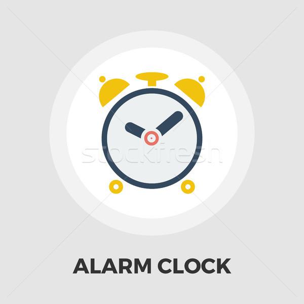 Alarm clock flat icon vector illustration © Oleksii Afanasiev (smoki