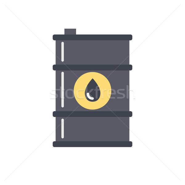 баррель нефть вектора икона изолированный белый Сток-фото © smoki