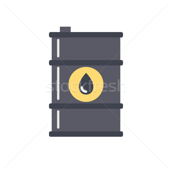 Barrel of Oil vector icon Stock photo © smoki