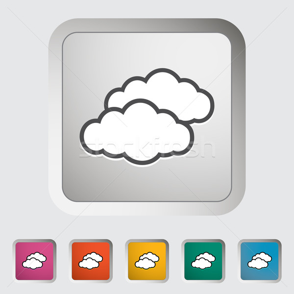 Overcast single icon. Stock photo © smoki