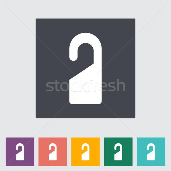 Deur tag teken ontspannen schilderij dienst Stockfoto © smoki
