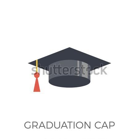 Oktatás ikon vektor izolált fehér szerkeszthető Stock fotó © smoki