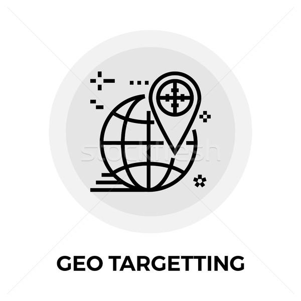 Geo Targetting Line Icon Stock photo © smoki