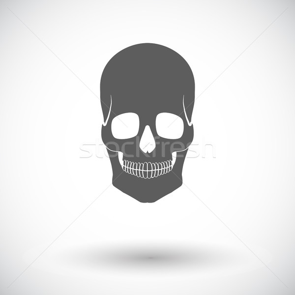 Skull icon Stock photo © smoki