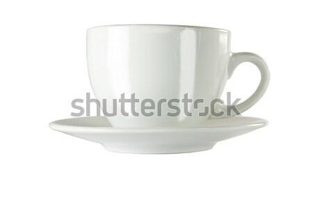 Ikonik beyaz fincan mükemmel kahve fincanı buhar Stok fotoğraf © smoki