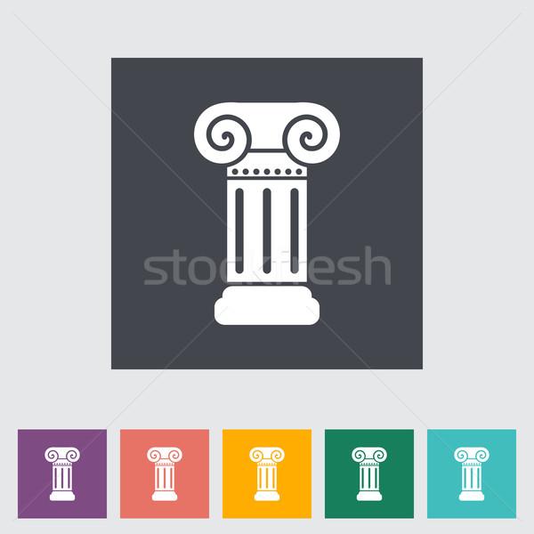 Column flat single icon. Stock photo © smoki