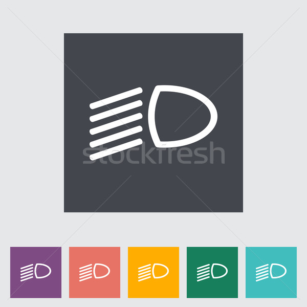 Headlight flat icon. Stock photo © smoki