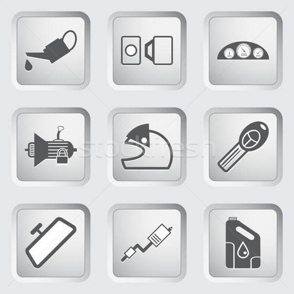 Car part and service icons set 4. Stock photo © smoki