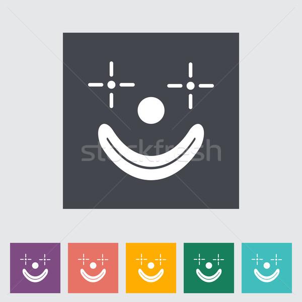 Palyaço Ikon Düğme Yüz Boyama Kafa Vektör Ilüstrasyonu