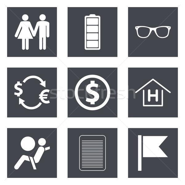 Ikona web design zestaw komórkowych aplikacje papieru Zdjęcia stock © smoki