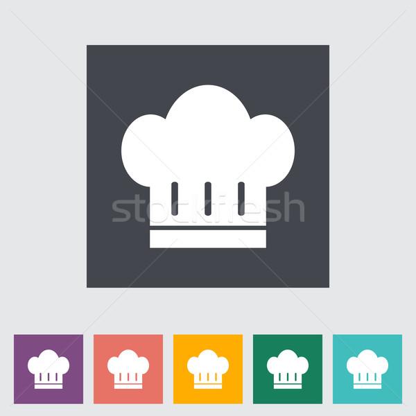 Szakács sapka szín ikon gomb terv felirat Stock fotó © smoki