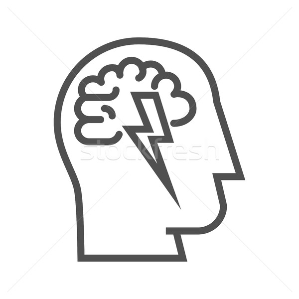 Brainstorm line icon Stock photo © smoki