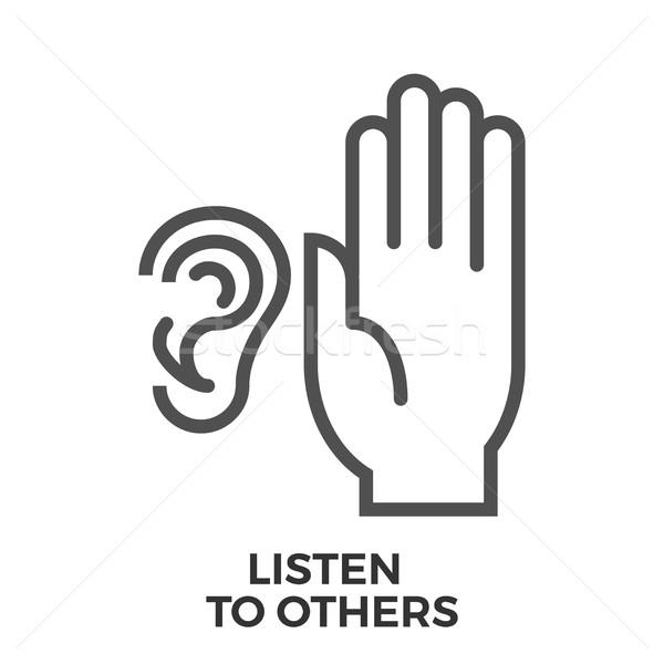 Listen to others Stock photo © smoki