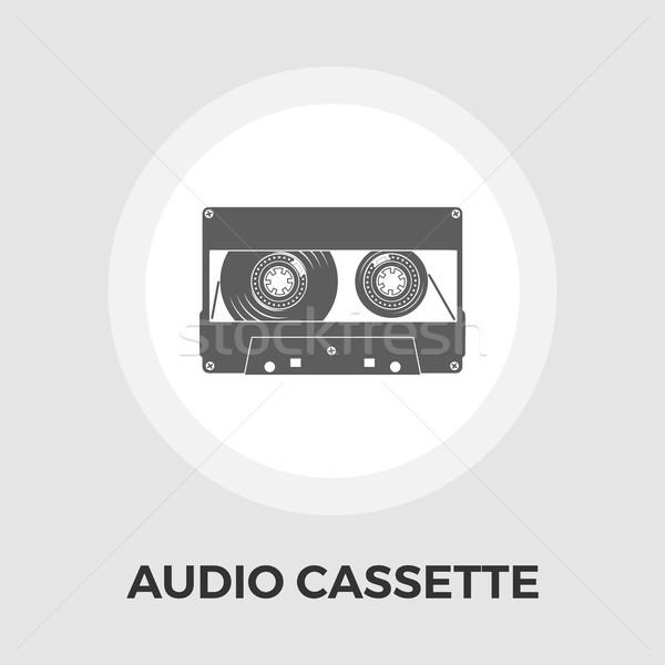 Audiocassette single icon. Stock photo © smoki