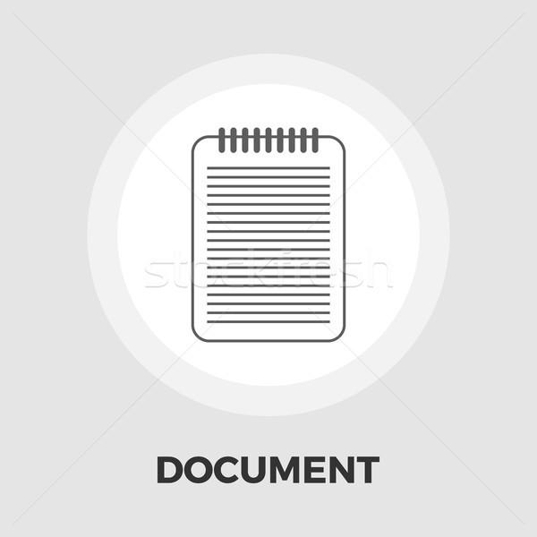 документа икона вектора изолированный белый Сток-фото © smoki