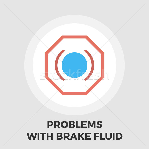 Stock photo: Problems with brake fluid icon flat