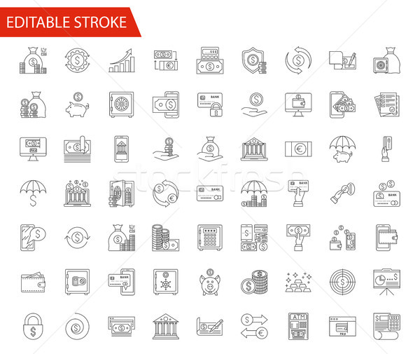 Banking vector icons set Stock photo © smoki