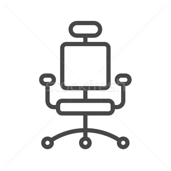 Office Chair Thin Line Vector Icon Stock photo © smoki