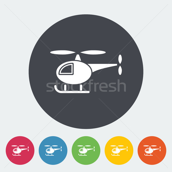 Helikopter icon vector web mobiele toepassingen Stockfoto © smoki