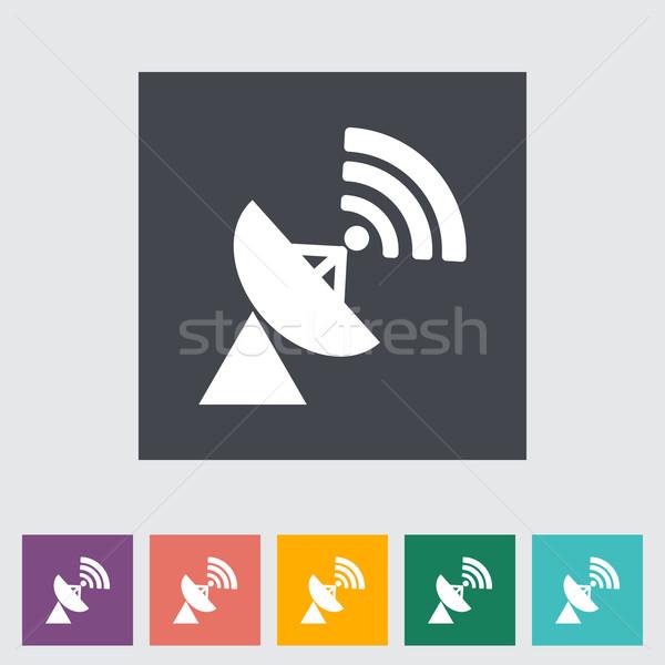 Satelitarnej anteny telewizji świat technologii sztuki Zdjęcia stock © smoki