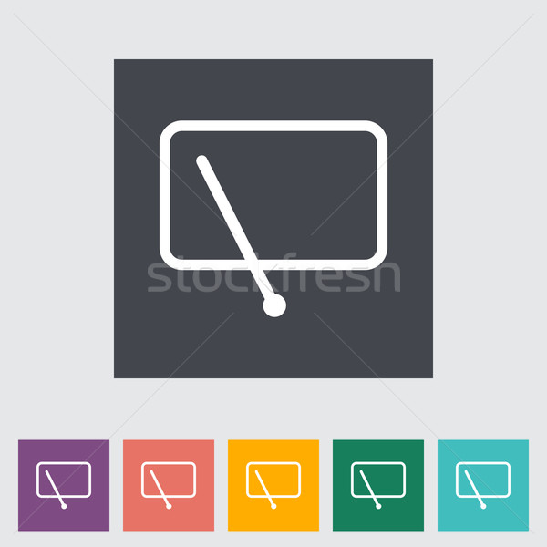 Stock photo: Car flat icon wiper.