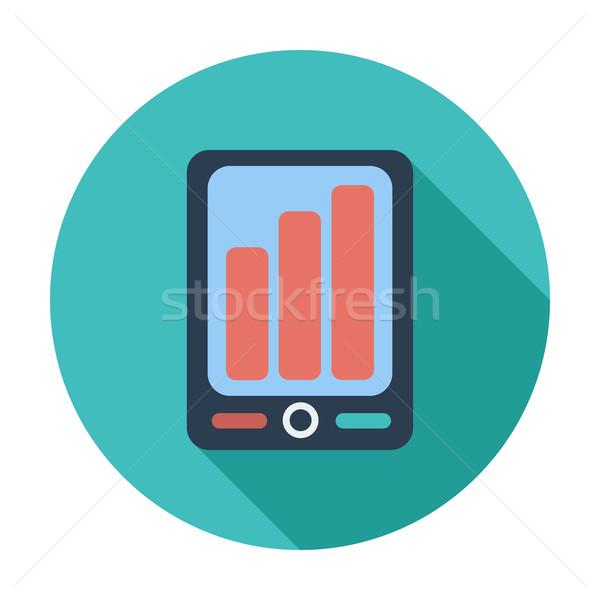 Smartphone ikona kolor działalności telefonu sztuki Zdjęcia stock © smoki