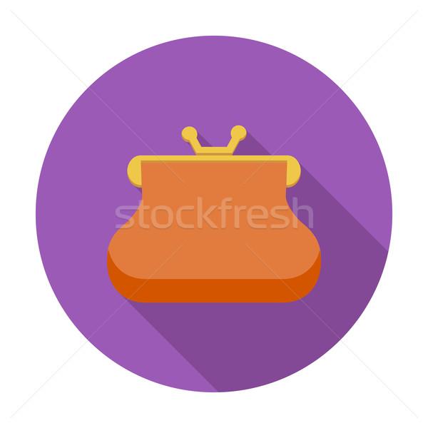 Pénztárca ikon szín pénz papír terv Stock fotó © smoki