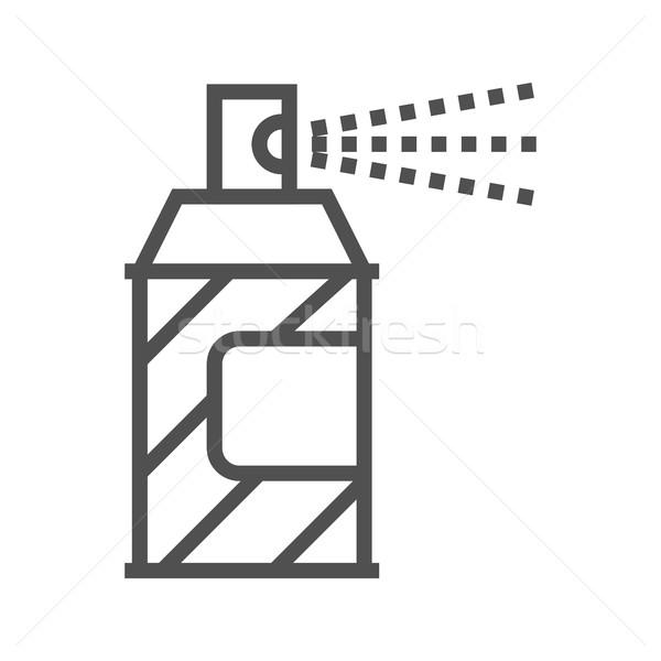 Festékszóró vonal ikon vékony vektor izolált Stock fotó © smoki