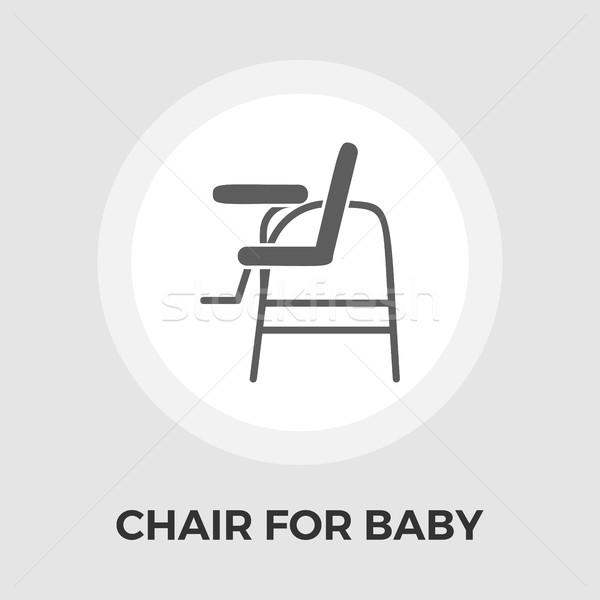 Chair for baby Vector Flat Icon Stock photo © smoki