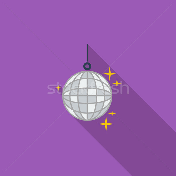 Disco ball ikona wektora długo cień internetowych Zdjęcia stock © smoki