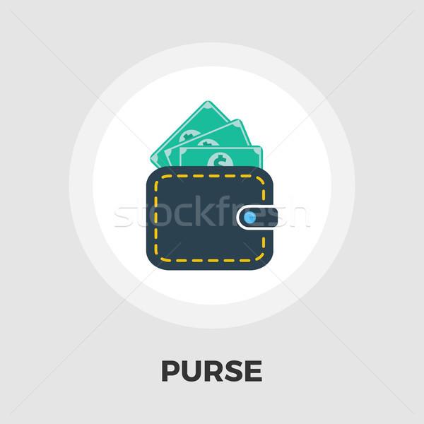 Purse icon flat Stock photo © smoki