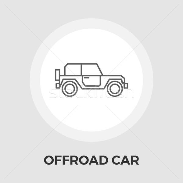 автомобилей вектора икона изолированный белый Сток-фото © smoki