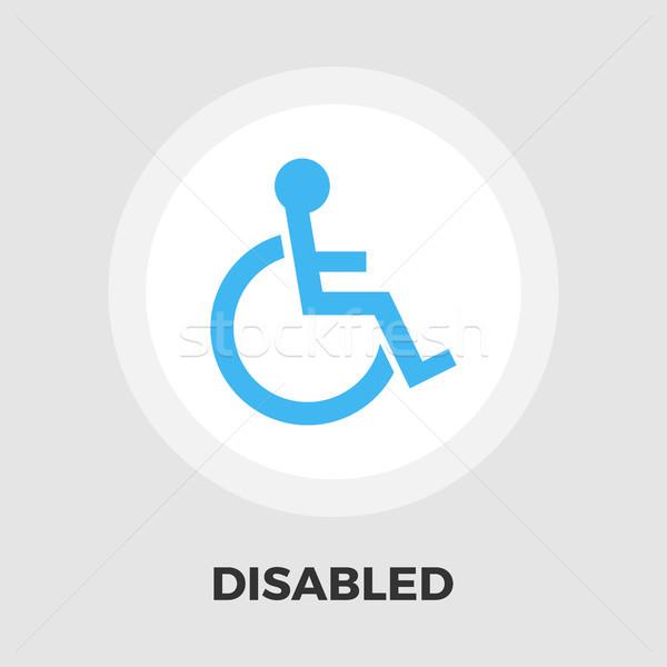 Disabled flat icon Stock photo © smoki