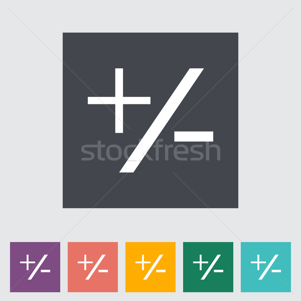 Eksi ikon turuncu yeşil renk Stok fotoğraf © smoki