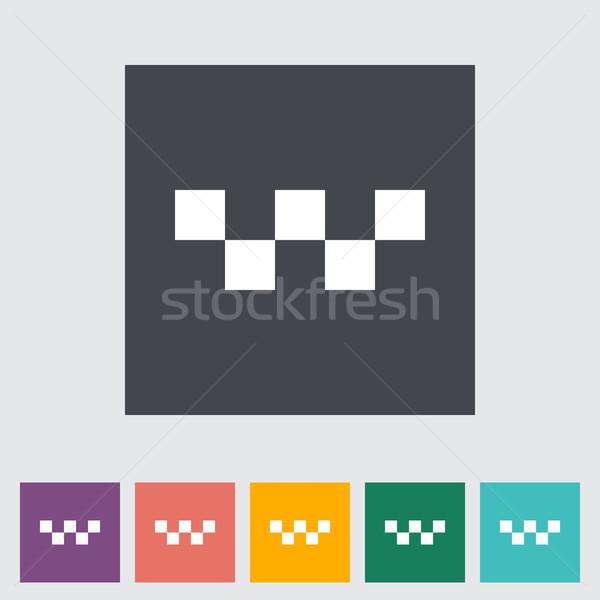 Taxi single flat icon. Stock photo © smoki