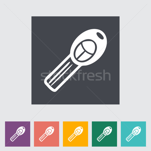 Ignition key single flat icon. Vector illustration. Stock photo © smoki