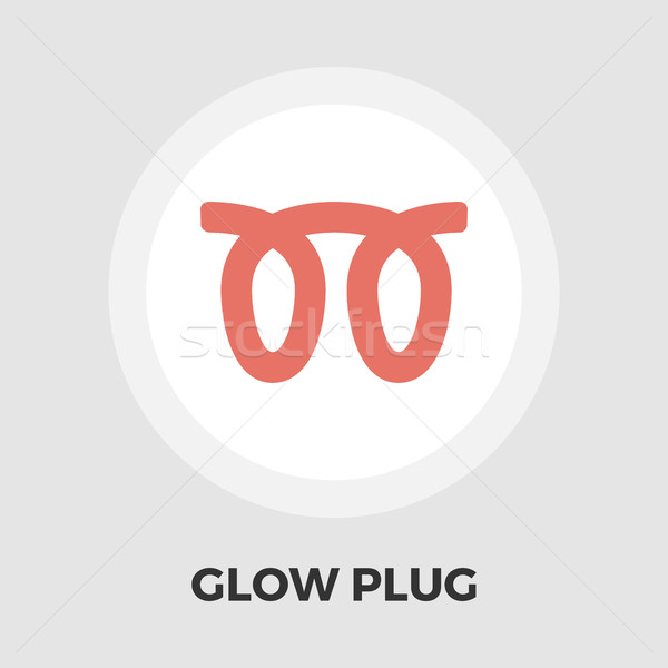 Glow plug flat icon Stock photo © smoki