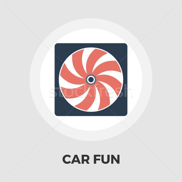 Stock photo: Radiator fan flat icon.