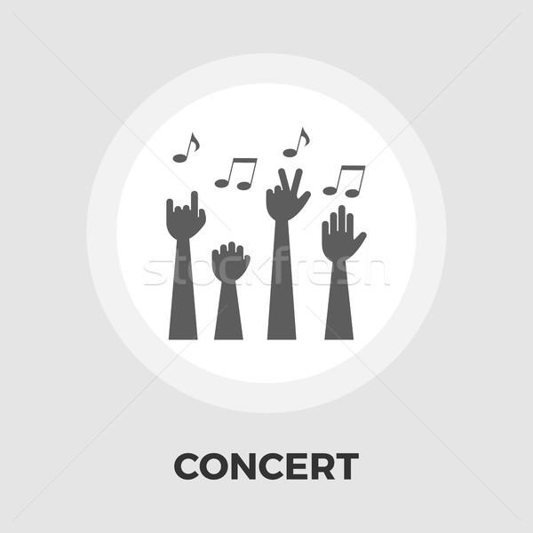 Concert icône vecteur isolé blanche Photo stock © smoki