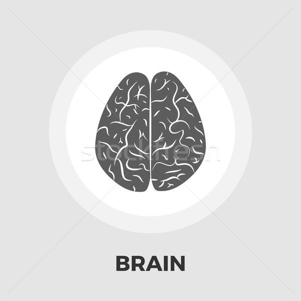 мозг икона вектора изолированный белый Сток-фото © smoki